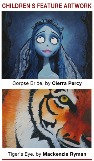 Featured Paintings from the Children's Creative Painting Program